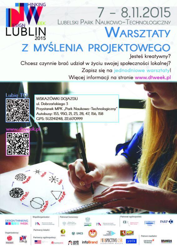 Design Thinking Week Lublin 2015 Zaproszenie Listopad 2015