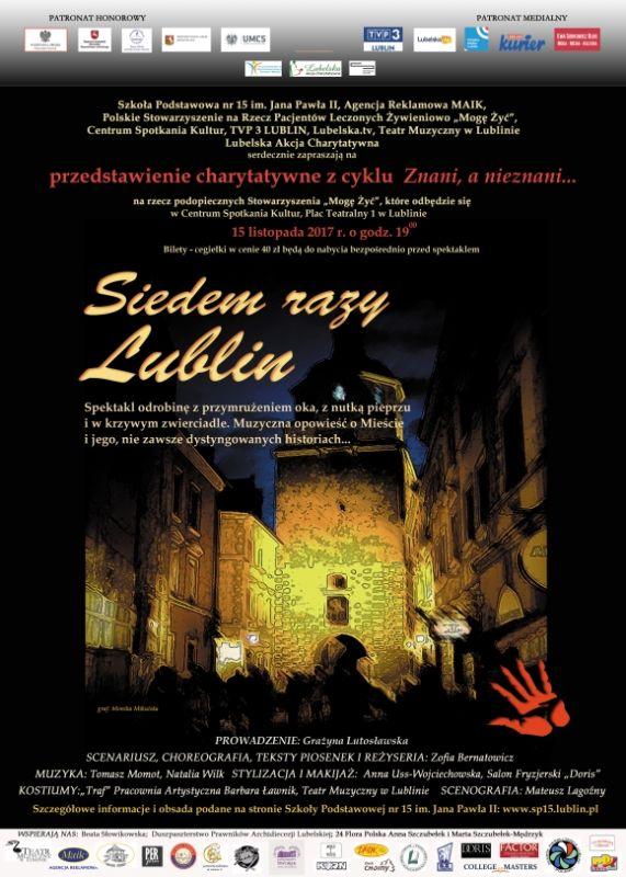 Siedem Razy Lublin Zaproszenie Na Przedstawienie Październik