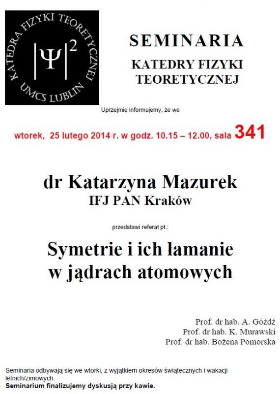 Seminarium KFT IF UMCS 25.02.2014 r.