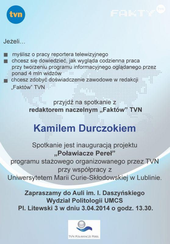 Spotkanie z K. Durczokiem - plakat