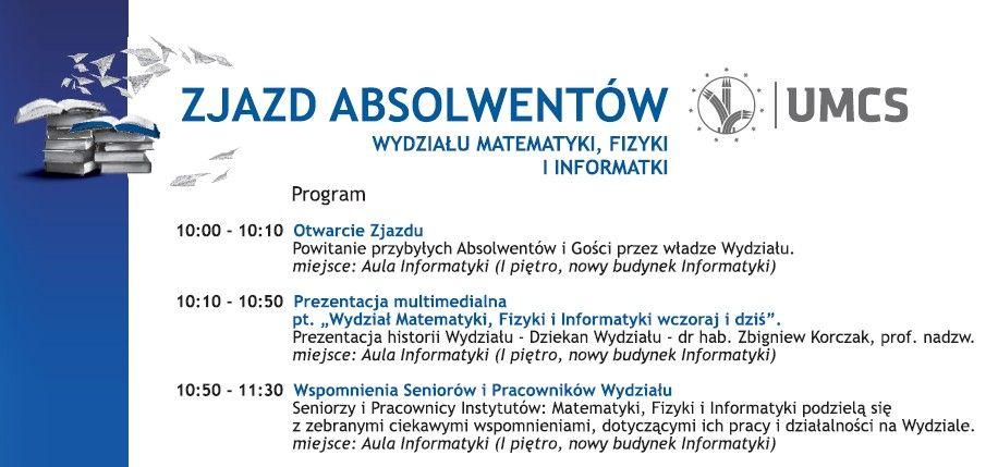 Zjazd Absolwentów Wydział Mfii Dla Absolwentów Matematyki