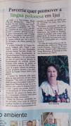"""Gazeta regionalana """"Jornal da Manhã"""" z artykułem o projekcie """"Język polskim ponad granicami"""""""