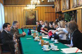 Spotkanie władz UMCS ze stypendystami MNiSW
