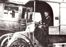 Ruchoma stacja radiologiczna podczas I wojny światowej