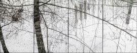 """""""Pejzaż zimowy"""", akryl, olej, sklejka na krośnie, 197 x..."""