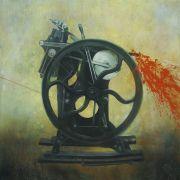 The splashing machine, 100x100 cm, akryl na płótnie,...