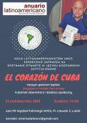 Plakat - El Corazón de Cuba - spotkanie z Dagoberto...