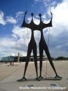 Brasília. Munumento 'Os Candangos'....