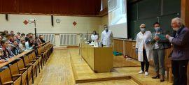 Prof. Robert Huber odwiedził Pokazy Chemiczne dla...