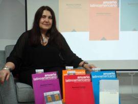 15. Prof. Katarzyna Krzywicka podczas prezentacji Anuario Latinoamericano.jpg
