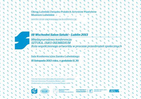 18 Wschodni Salon Sztuki Lublin 2013 konferencja