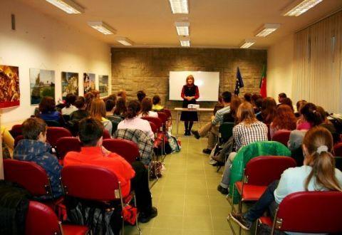 Visita dos alunos da E.B 2/3 nº 10 Jan Twardowski de Lublin