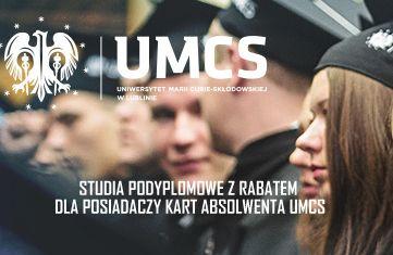 Posiadasz Kartę Absolwenta UMCS? Mamy dla Ciebie rabat!