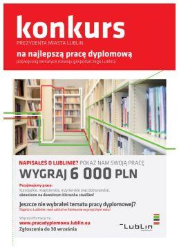 Trwa V edycja konkursu Prezydenta Miasta Lublin na...