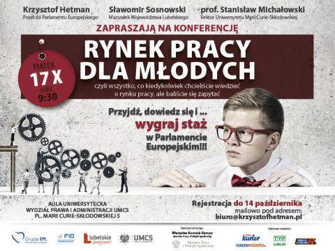 """Zaproszenie na konferencję """"Rynek pracy dla młodych"""""""