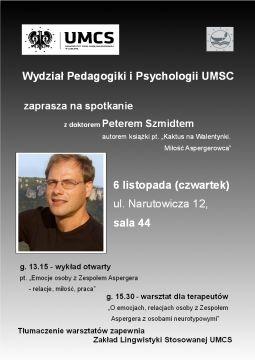 Spotkanie z doktorem Peterem Szmidtem