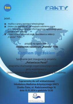 Zaproszenie na spotkanie z K. Durczokiem
