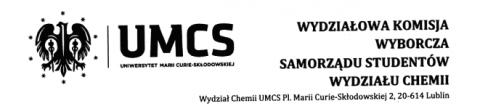 Wybory uzupełniające do RWSS Wydziału Chemii – 24.11.2014r.