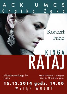 Koncert Fado - zaproszenie