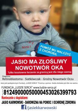 Pomóż Jasiowi Karwowskiemu w walce z chorobą