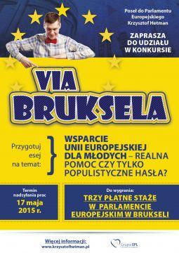 "Konkurs stażowy ""Via Bruksela"""
