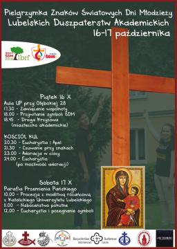 Symbole Światowych Dni Młodzieży w Lublinie