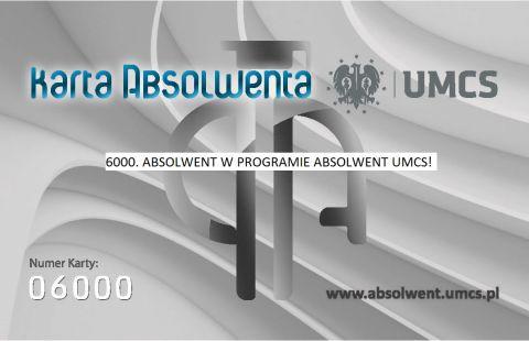 6000. osoba w Programie Absolwent UMCS!