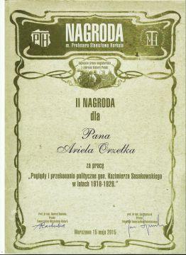 Nagroda im. prof. Stanisława Herbsta dla studenta...