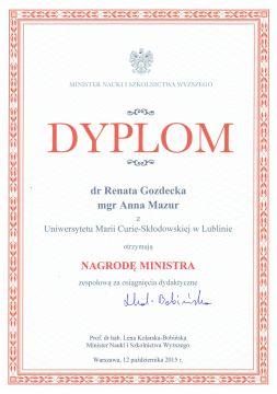 Laureatki Nagrody Ministra
