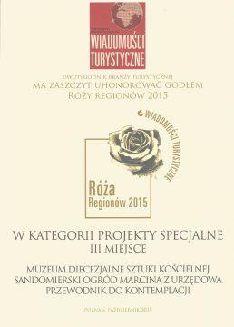 Róża Regionów 2015 dla przewodnika po ogrodzie Marcina z...