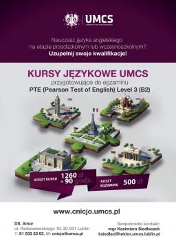 Uniwersyteckie Kursy Językowe przygotowujące do egzaminu PTE