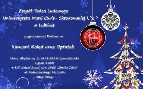 Zaproszenie na koncert kolęd 14.12.2015, g.18:00