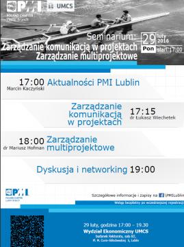 Seminarium PMI: Zarządzanie komunikacją w projektach