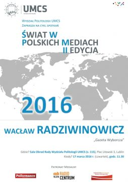 """""""Świat w polskich mediach"""" – spotkanie z red...."""