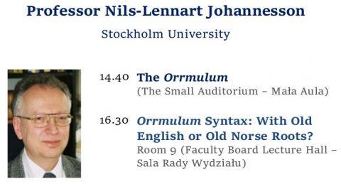 Prof. Nils-Lennart Johannesson's Guest Lectures