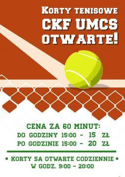 Korty tenisowe UMCS już otwarte!