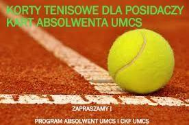 Korty tenisowe z 25% rabatem w Programie Absolwent UMCS!