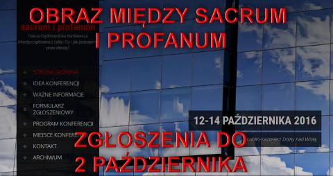 "Konferencja: ""Obraz między sacrum i profanum"" -..."