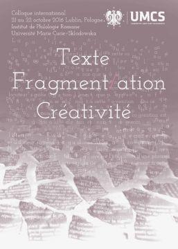 Konferencja w IFR: Texte - Fragmentation - Créativité