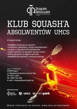 Zapraszamy do Klubu Squash'a Absolwentów UMCS!