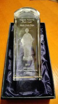 Nagroda Naukowa im. Marii Curie dla zespołu prof....