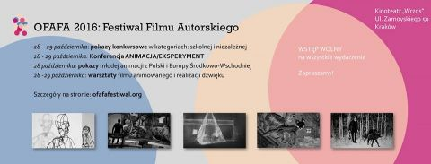 Nasze filmy na festiwalu OFAFA w Krakowie
