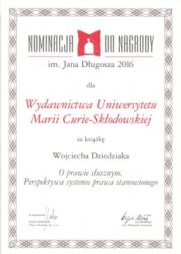 Nominacja do Nagrody im. Jana Długosza dla dr hab....