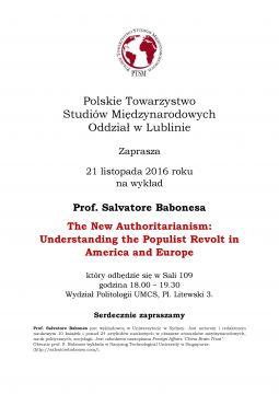 Zaproszenie na wykład prof. S. Babonesa