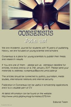 "Academic Journal ""Consensus"" invites students..."