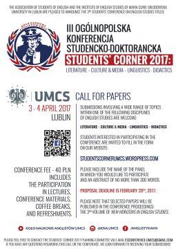 "Konferencja ""Students' Corner 2017"" –..."