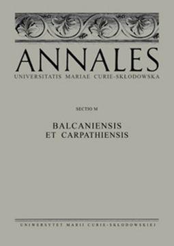 Annales UMCS – Sectio Balcaniensis et Carpathiensis –...