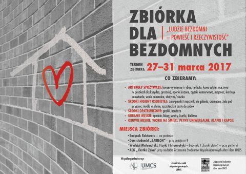 """Zbiórka """"Ludzie Bezdomni..."""" (do 31 marca)"""