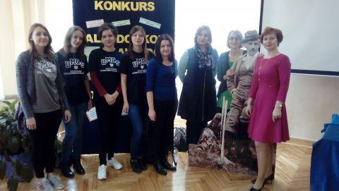 Nasza delegacja w Zespole Szkół nr 1 w Łukowie