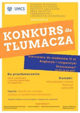Konkurs tłumaczeniowy